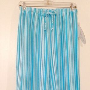 Jaclyn Intimates Striped Lounge Pajama Pants NWT